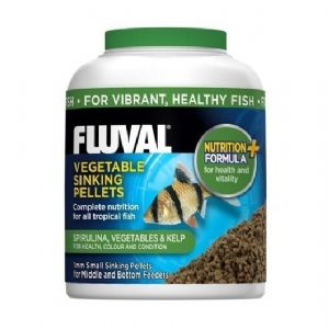 Fluval Tropical Vegetable Sinking Fish Pellet  Replaces Nutrafin Foods
